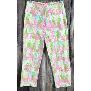 Lilly Pulitzer Jungle Road Capri Cropped Pants